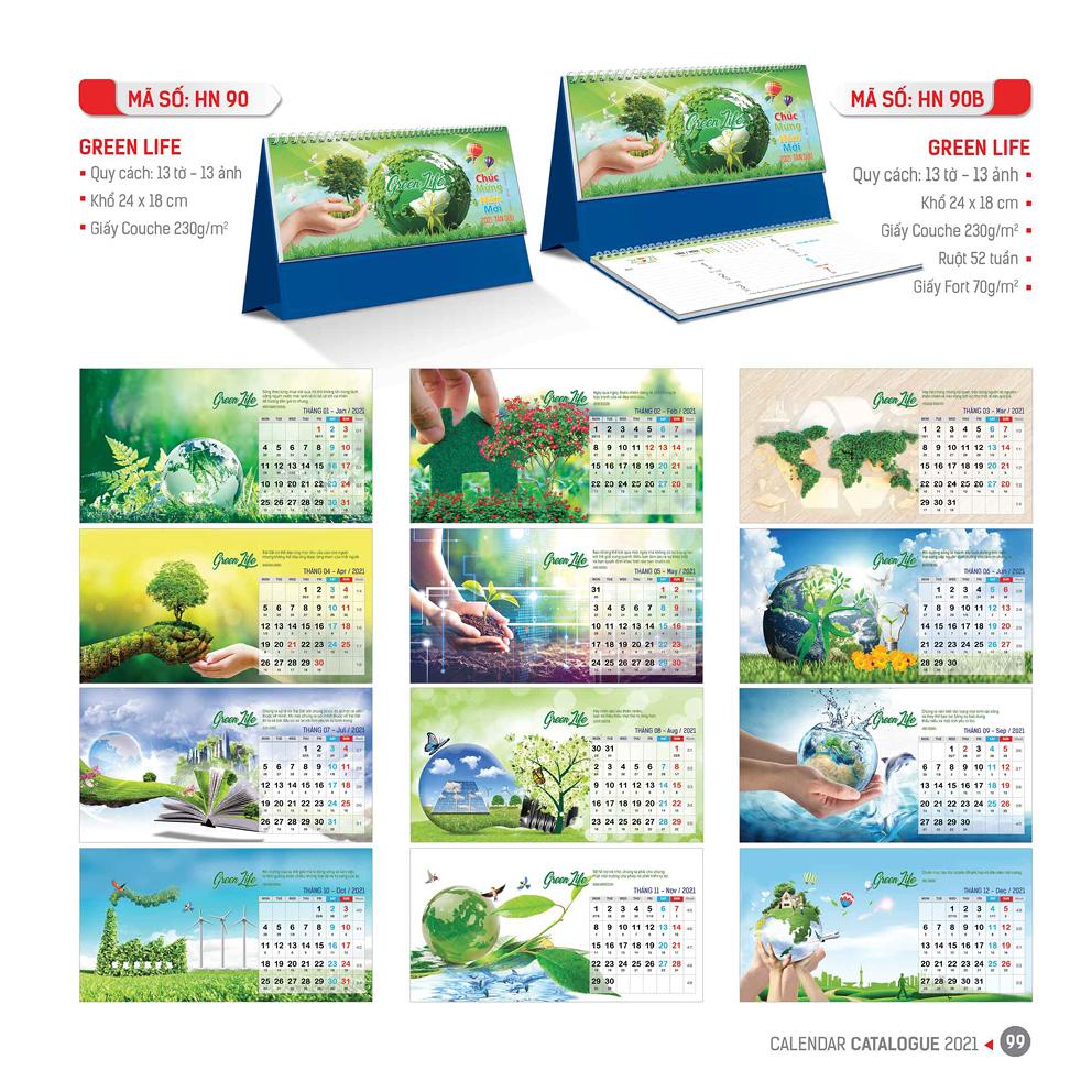 Lịch bàn - Green Life