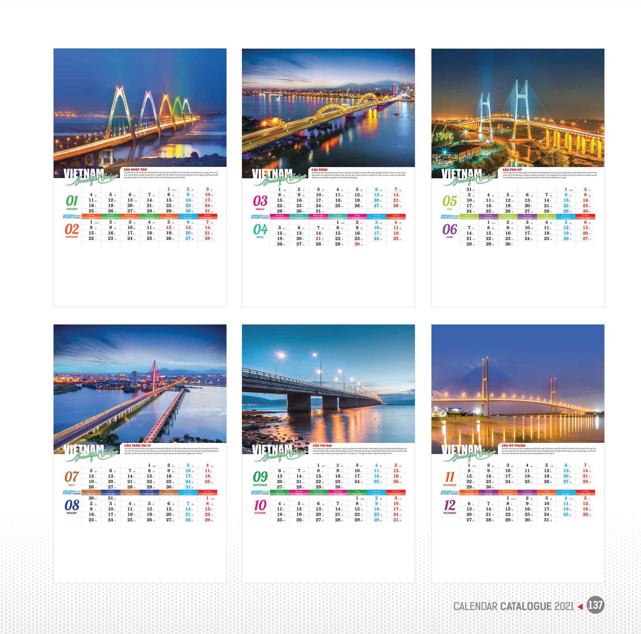 07 tờ - Vietnam Beautiful Bridges