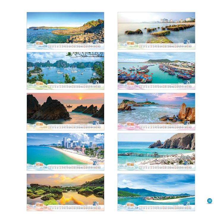 Lịch để bàn 14 tờ An Hảo - Biển Đẹp Việt Nam